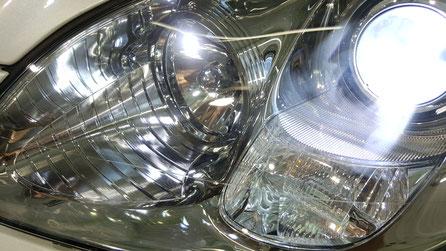 ヘッドライト磨きで透明感が復活したレクサスSC430