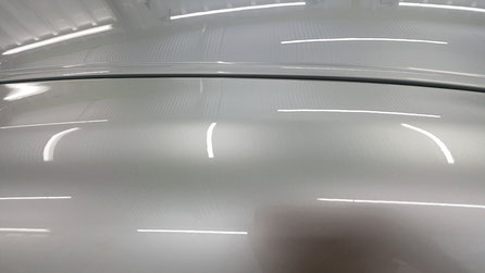 r35gt-r Aピラー上部のクレーター除去 埼玉の車磨き専門店