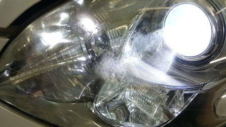 ヘッドライトの劣化が目立つSC430