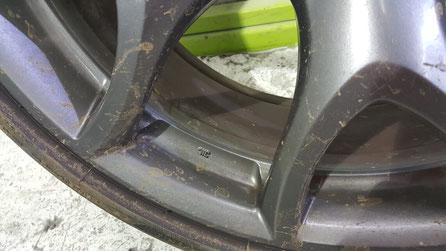 RX‐8リヤホイールのブレーキダスト汚れ