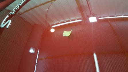 ケイマンSのリアゲートの傷を磨きで除去・改善・補修 ルビーレッドの艶