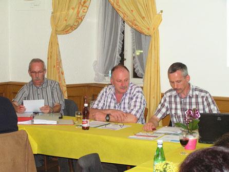 Edy Lütolf, Martin Wyss, Markus Staufiger. (von rechts nach links)