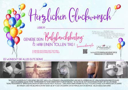 Geschenk Babybauch Foto Deggendorf - kein Gutschein