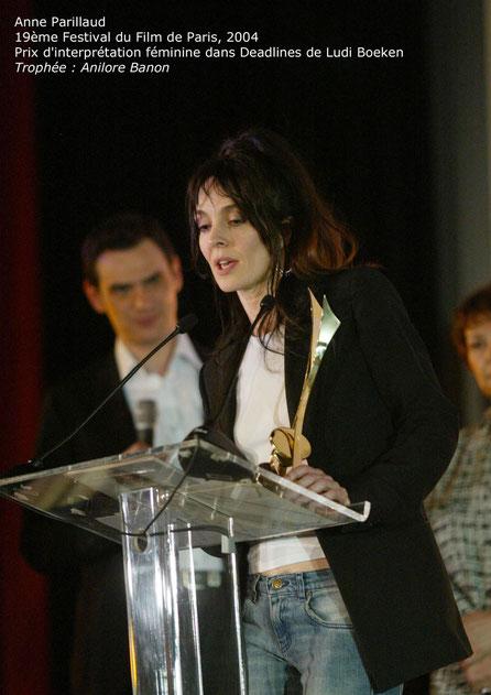 Trophée du Festival du Film de Paris, remise de prix de Anne Parillaud (2004)