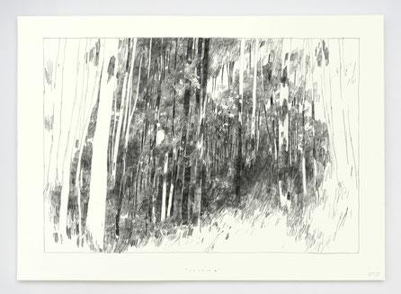 "Vendu - Sold /// ""SOURCE III"" / Graphite / 50x70cm"