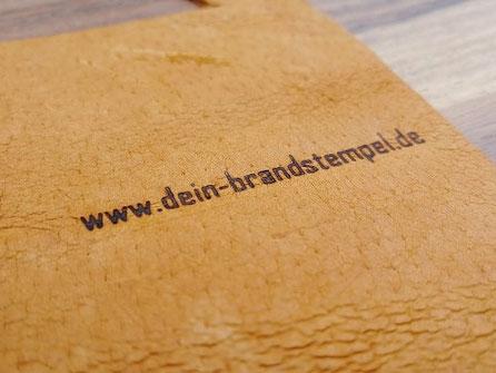 Branding Heisspraegestempel auf Leder