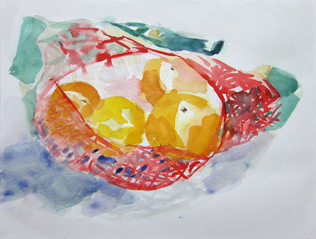 November 2016 Beate »Guter Fang« Aquarell 24 x 32 cm