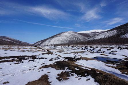 Landschaft, Schnee, Berge