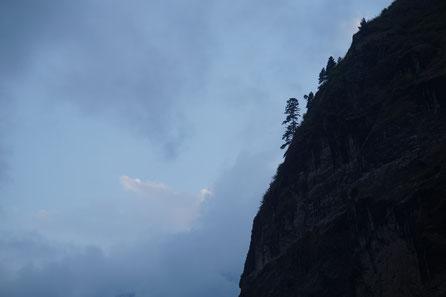 Felsen, Einsamkeit, Dämmerung