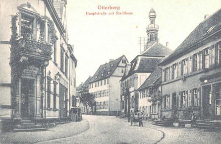 1912, Blickrichtung Nord, links das ehemalige Gasthaus Löwen, Bild: Stadtarchiv