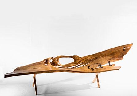 B1011 · Oak, Red Oak, Black Walnut#bench#stool#console#sculpture##woodworking#interiordesign#woodsculptures#art#woodart#wooddesign#decorativewood#originalartwork#modernwoodsculpture#joergpietschmann#oldwood