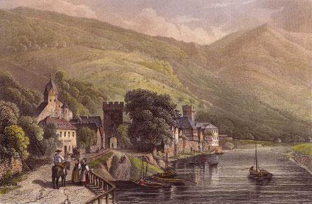 Dausenau 1844, Stahlstich von L. Ceder