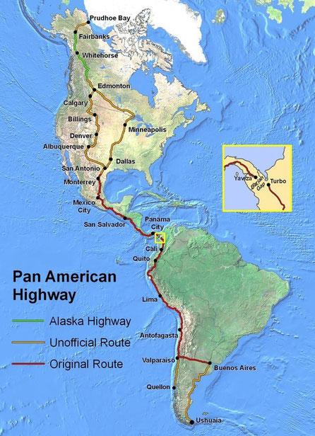 Verlauf der Panamericana