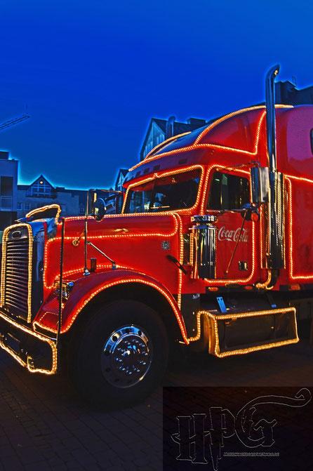 Der Coca Cola Truck auf dem Löherplatz Idstein