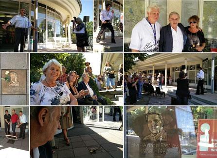 Todestag von Elvis Presley und Einweihung der Elvis-Gedenkplatte an der Touri-Information Bad Nauheim, Fotos: Beatrix van Ooyen - 16.08.2016