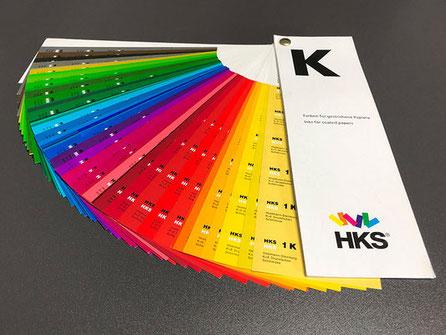 HKS Farbfächer – visueller Abgleich von Drucksachen