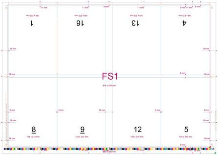 Ausschieß-Schema im Druckerei-Workflow für die richtige Seitenanordnung auf dem Druckbogen
