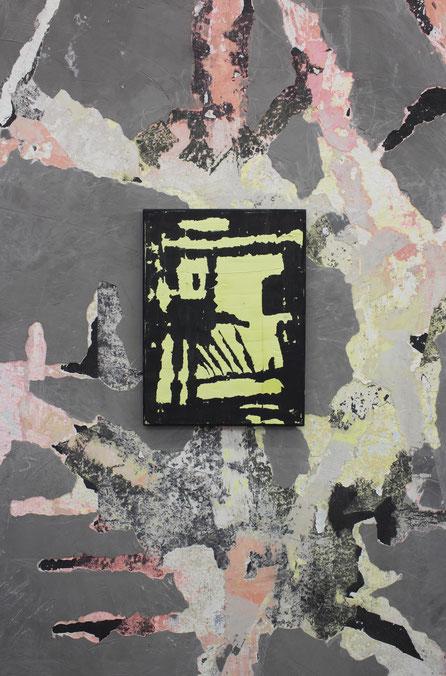 HtsJ / 2020 / Gips / Vinyl /Acryllack / Polyester / 39 x 29 cm