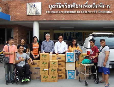 Terry Weir & Kamonchanok Janton support donation to CCD from GBA's donor