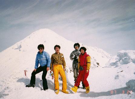 1987.3.22 「岩木山・鳥海山」山頂