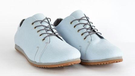 vegane sneaker canvas hellblau