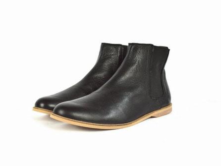 vegane chelsea boots schwarz faire stiefeletten