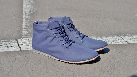SORBAS '66 Blaue High-Top Sneaker Bio-Baumwolle vegan
