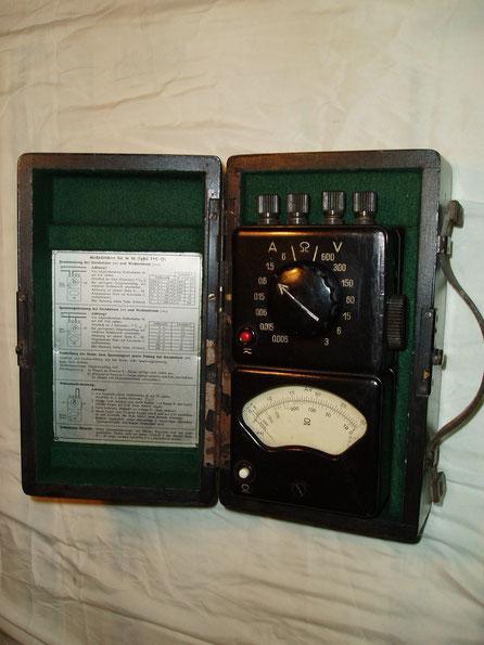 Hartmann & Braun Multimeter Typ. Tavocord TVC / O