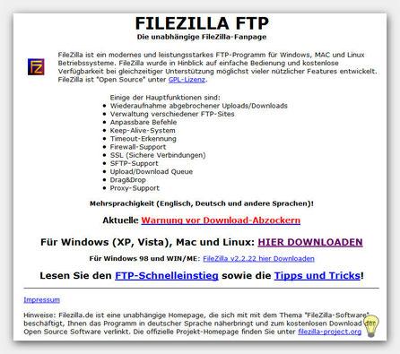 FileZilla downloaden FTP Programm