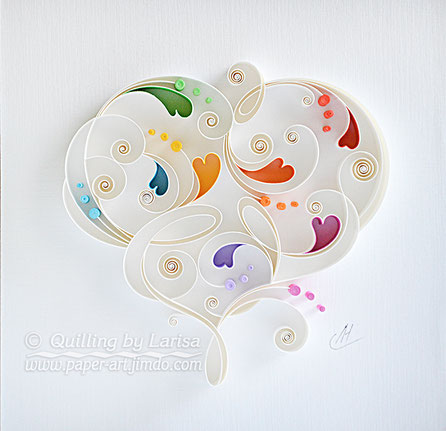 quilling , quilling paper, annyversary, wedding, quilling gift, paper art, art, love, paper hearts, love heart, love ,for her, etsy, larisa zasadna, design, love heart, hearts, quilling art, quilling paper art