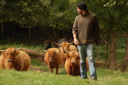 Elevage Biologique Ferme de la Millanchère Rémi et le troupeau