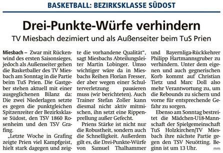 Artikel im Miesbacher Merkur am 17.11.2018 - Zum Vergrößern klicken
