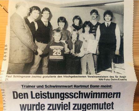 Zeitungsbericht 1983