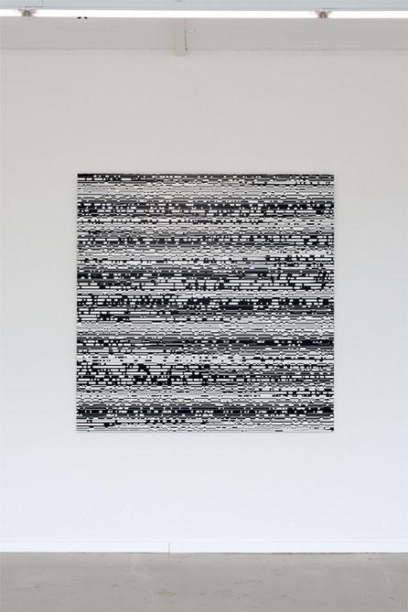Jean-Claude Houlmann, Lack auf MDF, 150x150cm, Kunstraum Florenz, Basel, Foto © Nici Jost