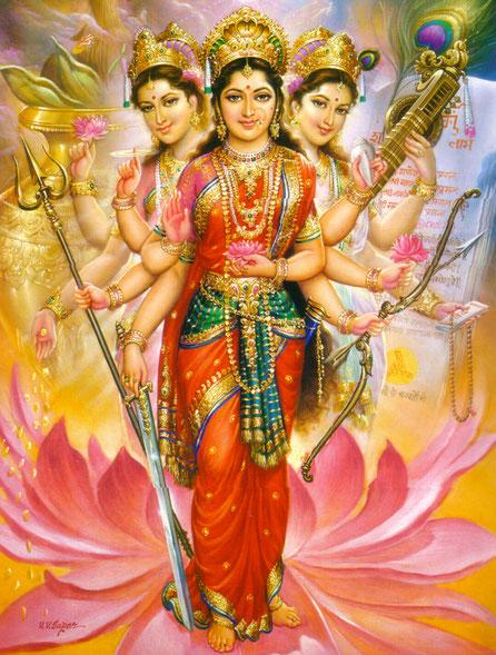 ТриДеви - Лакшми, Сарасвати и Дурга