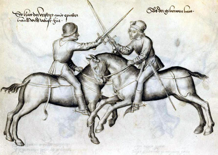 15th drawing from the manuscript of the fencing master Hans Talhoffer