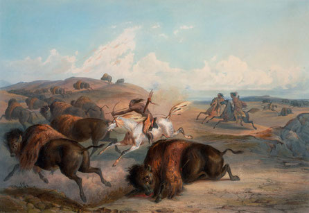 Painting by the German artist explorer Karl Bodmer