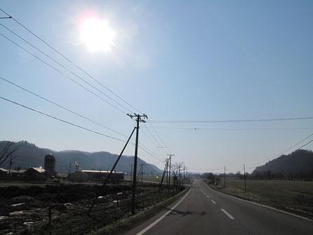 天気は最高。今日も楽しく行けそうだ。