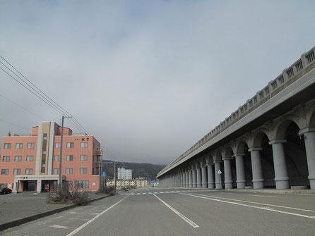 稚内北防波堤ドーム。昭和11に完成した防波堤。北海道遺産。いつかこの下でキャンプしたい。