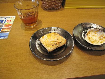 続いてウニ餅(200円)餅の中にウニが入っている。これもナカナカ美味。