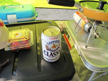 暑いので一杯飲みながら。ビールは決まって北海道限定サッポロクラシック