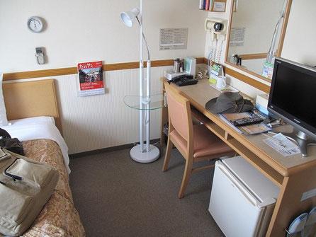 16:24 函館の東横イン・・・風邪気味だったので1泊だけホテルを利用することにしました。