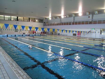 流れるプールから競技用プールまで施設が充実している