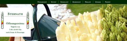 Spargelhof Sternath hat direkt in St. Stefan einen Hofverkauf von heimischen Spargel - Link zur Homepage