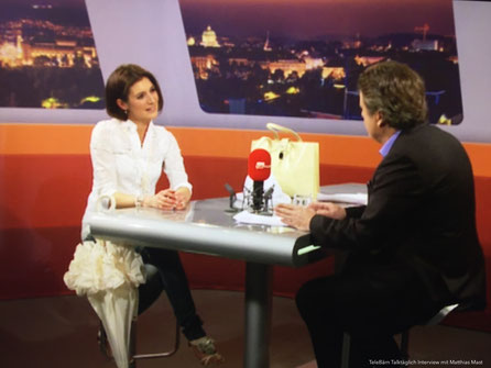(Bild oben) Einladung & Interview bei TV TeleBärn Sendung TalkTäglich - Matthias Mast