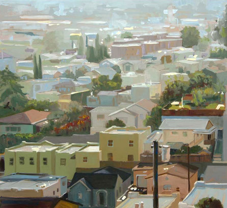 Figueroa Street 2009, Öl auf Segeltuch, 110 x 120 cm