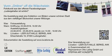 """Flyer/2 Vuun """"Online"""" uff die Wäschelein_ LUcation - LEER.GUT.HALLE. BERKEL AHK"""