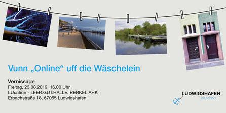 """Flyer/1 Vuun """"Online"""" uff die Wäschelein_ LUcation - LEER.GUT.HALLE. BERKEL AHK"""