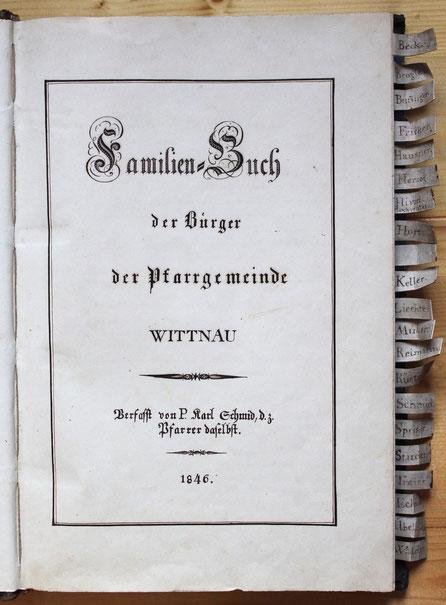 Das Original von 1846 (Klosterarchiv Mariastein)