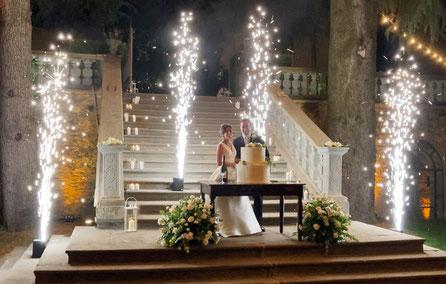 sparkular, wedding, clusane, iseolake, sposi, fontane, scintille, getti, scintillanti, torta, tagliotorta,